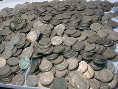 50-D 39-D Lot Of  900+ Pre 1959 Jefferson Nickels With The Goodies Left In