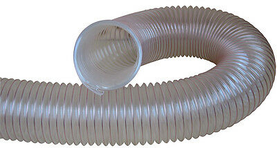 Charnwood Clear Flexible Wood, Dust & Chip Extractor Hose 125Mm Dia. 125Flex