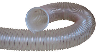 Charnwood Clear Flexible Wood, Dust & Chip Extractor Hose 50Mm Diameter 50Flex