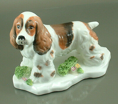 Shafford Fine Bone China English Springer/Brittany Spaniel Dog Vintage Figure