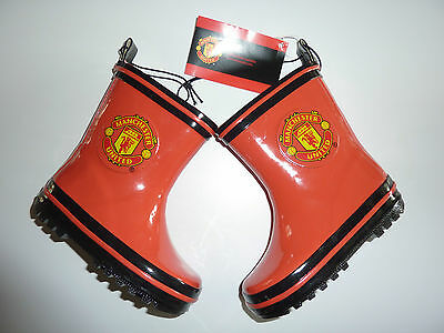 MANCHESTER UNITED Childrens Wellington Boots NWT