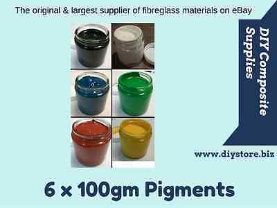 Pack of 6 - 100gm Pigment Pastes for Polyester, Epoxy, Flowcoat (FREE FREIGHT)