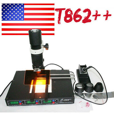 Rework Soldering Station BGA IRDA Welder Infrared Heating Machine For PC Laptop