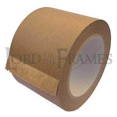 75mm x 50m Brown Paper Self Adhesive Backing Tape Picture Frame Framing FREE p+p