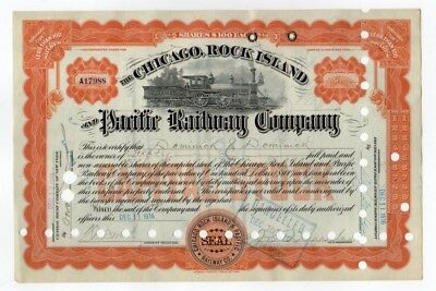 Chicago, Rock Island and Pacific Railway Company Stock Certificate