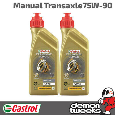 2 Litres Castrol Syntrans Transaxle 75W90 Synthetic Gear Oil - VW, Volkswagen