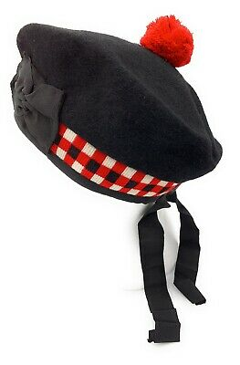 New 100% Pure Wool Scottish Balmoral  Diced  Hat