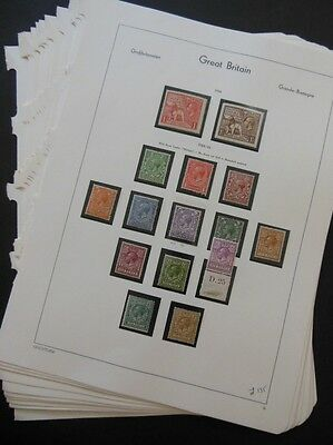 GREAT BRITAIN : Beautiful all Mint collection on pages from 1924-1951. All sound