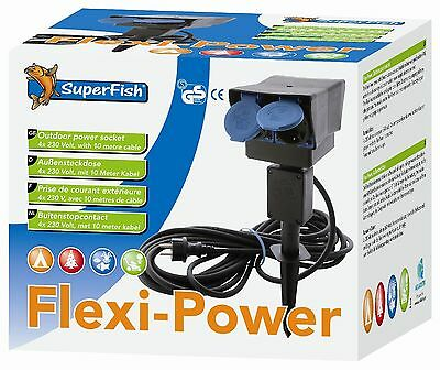 Flexipower Gartensteckdose mit 8 m Kabel