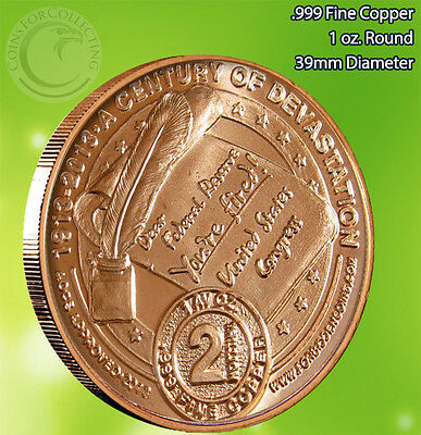 """TRILLION"" Design AOCS 1 oz .999 Copper Round Very Limited and Very Rare"