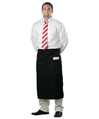 1 New Black  Waist Long Apron Commercial Apron Spun Poly