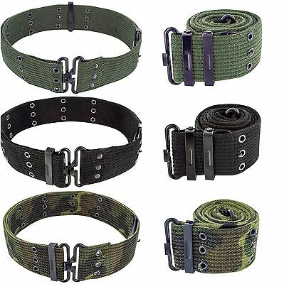 Mens Army Military Combat Pistol SWAT Utility Surplus Belt Black Green Camo New