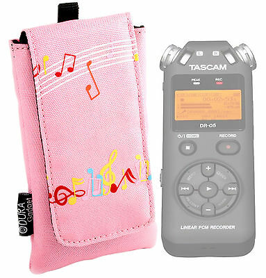Slim Pink Pouch Case for TASCAM DR-05 Digital Voice Recorder/Dictaphone