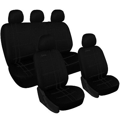 schwarz sitzbez ge f r seat ibiza autositzbezug komplett. Black Bedroom Furniture Sets. Home Design Ideas