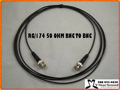 BNC RG 174 Signal / Jumper Cable 50 OHM 2 foot USA Made