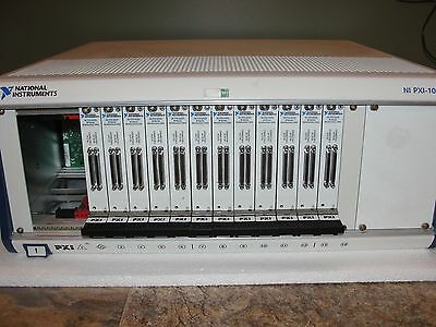 National Instruments PXI-0144 14 Slot Chasis w/ PXI-6225 Multifunction DAQ Qt:12
