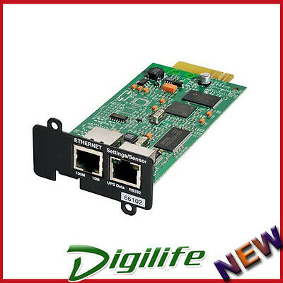 Eaton Network Card- MS SNMP/WEB Adaptor connect to Ethernet network & internet