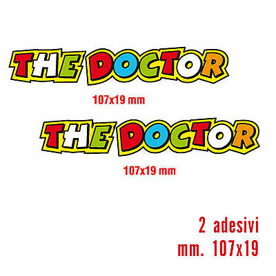 Kit 2 Adesivi Stickers The Doctor Valentino Rossi...fantastici...verniciabili!
