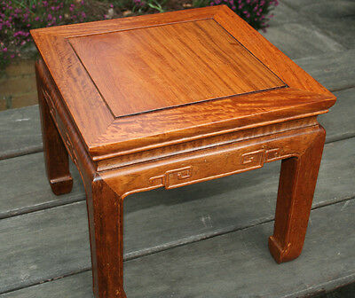 One Chinese Small Side Table Burmese Huali Wood 缅甸花梨木 only one left #20140019