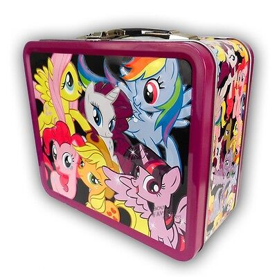 My Little Pony Group Rainbow Dash Fluttershy MLP Tin Tote Lunch Box Licensed