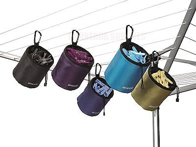 Brabantia Durable Clothes Peg Bag Hanging Holder Assorted Colours - Brand New