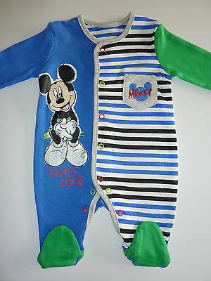 DISNEY Really Cute Mickey Mouse Totally Cool! Sleepsuit NWT
