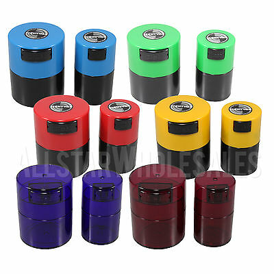 Tightvac Air Sealed Container 1oz / 1.4oz - Blue, Green, Red, Yellow, Rose
