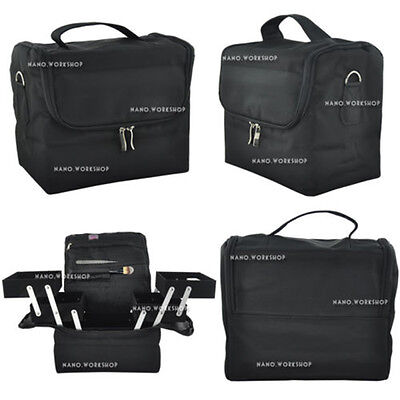 BF Black Beauty Box Cosmetic Make Up Jewellery Saloon Case Beautician Bag 340