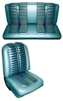 1963 Ford Fairlane Sport Coupe Seat Cover Set Front&Rear NEW Authentic OEM Repro