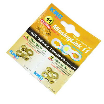 KMC CL555 11-speed Chain Missing Link For Shimano & Campagnolo - Gold