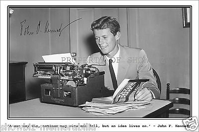 John F Kennedy Signed Autograph Photo Poster Print - Great Piece Of Memorabilia