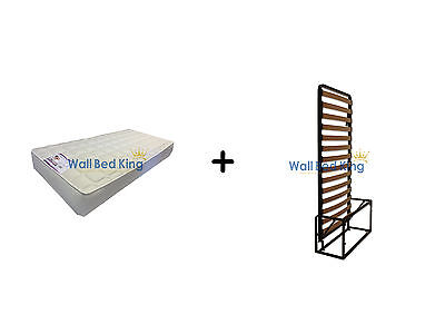 Single wall bed- WITH MEMORY FOAM MATTRESS (Wallbed Murphy bed Pull-out bed)