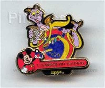 FIGMENT 5 YEARS OF PIN TRADING Collection 2004 Epcot LE WDW DISNEY PIN