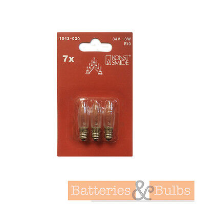3w 34v E10 Christmas Candle 7 to 9 Arch Bridge Replacement Spare Screw Bulbs x3