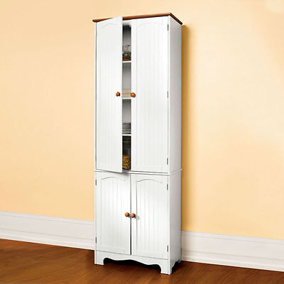 Wooden Kitchen Pantry Cupboard Cabinet Linen Storage Cabinet Cupboard 004