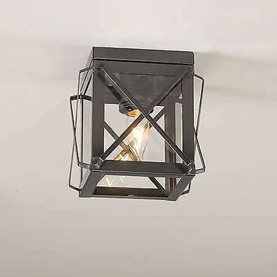 Single Ceiling Light with Folded Bars Colonial Revival Hallway Fixture Unique