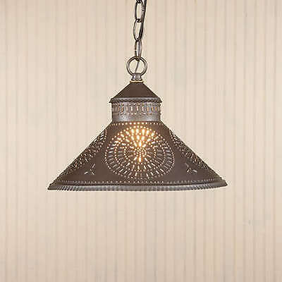 Stockbridge Hanging Shade Light Chisel design Irvin's Country Tinware Colonial