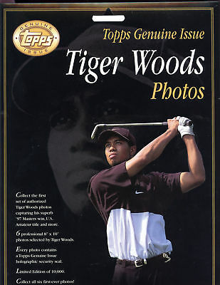 1997 Genuine Topps Golf Tiger Woods Photos SEALED Pack Complete Set The Masters