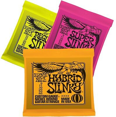 Ernie Ball x 3 Regular - Hybrid - Super  Electric Guitar Strings 2221 2222 2223