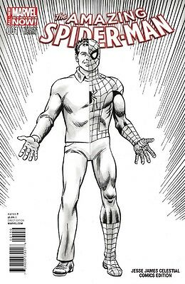 Marvel Comics Amazing Spider Man #1 Vol 3 Desert Winds Exclusive Sketch Variant