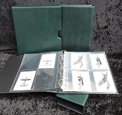 Post Card Album Green with slip case, Guardian Size