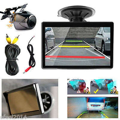 5 Inch TFT LCD Car Rear View Camera Monitor and Wide angel Auto Rearview Backup