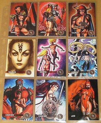 Dark Zodiac Trading Cards - Complete Rare 48 Mint Card Set by ReddLife