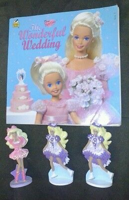 barbie toy and childrens book lot of 4 cool vintage teach your child to read wow