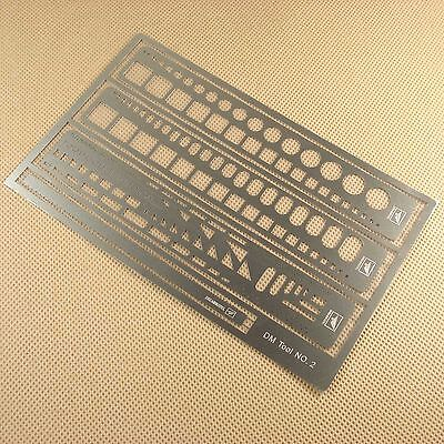 Dreammodel PE Photo etched Tools Stainless steel Scribing Panel Rivet Template