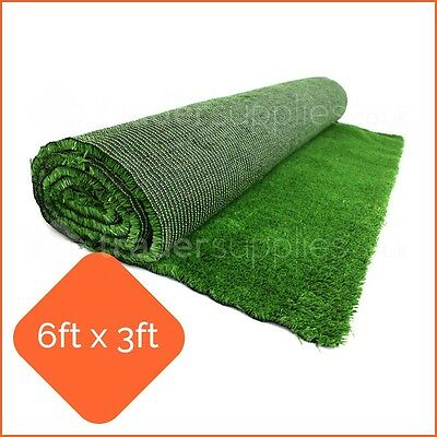 Artificial Display Grass Green Grocers Market Stall 6x3