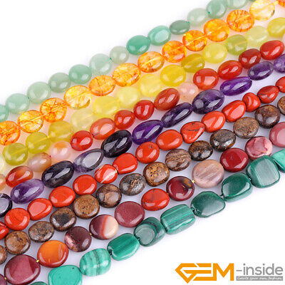 "Wholesale Lot 9x12mm Freeform Nugget Gemstone Beads For Jewelry Making 15"" YB"