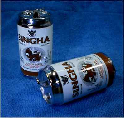 Lager Beer Singha Cans Magic 2 In 1 Lighter Collectible and Flashlight LED