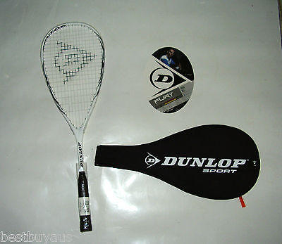 New! Dunlop Fury 10 Squash Racquet & Cover