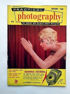Practical Photography Magazine January 1960, Homemade Emulsion/Wildlife...R&L